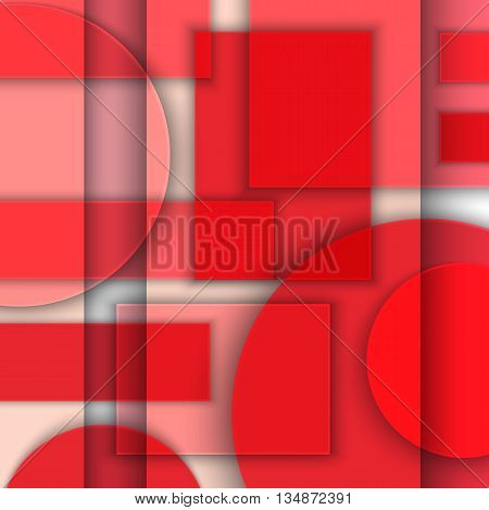 Material design. Abstract background of geometric shapes. Simulation of glass or transparent plastic. Art poster. Vector illustration. EPS 10