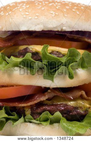 Hamburger Series (Close Up Bacon Cheeseburger)