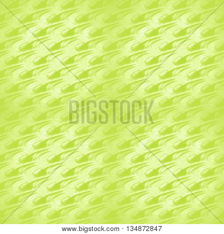 Abstract geometric plain background shining. Modern seamless wavy pattern diagonally in bright green shades, in squares centered and blurred.
