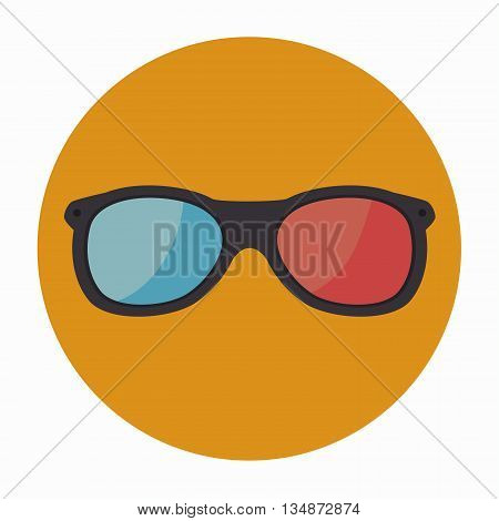 3-D glasses design, vector illustration eps10 graphic
