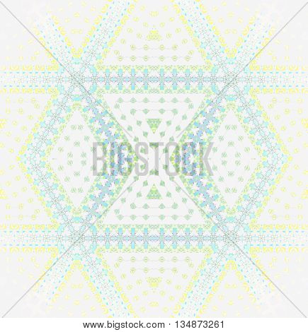 Abstract geometric seamless background. Modern regular diamond pattern in pastel shades. Elements in yellow, light blue, turquoise, light green and purple on white, centered and blurred.