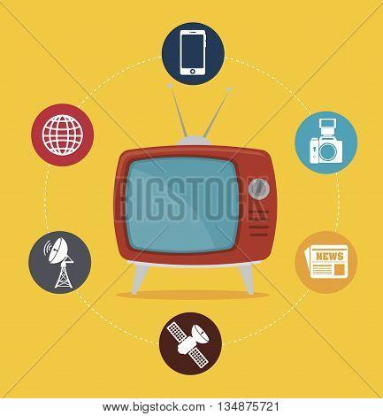 tv medio design, vector illustration eps10 graphic