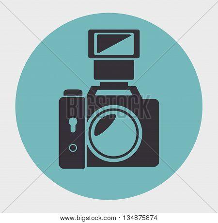 photographic camera design, vector illustration eps10 graphic