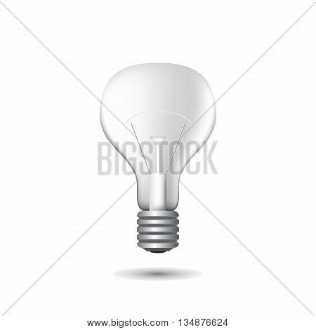 Realistic light bulb vector illustration on white background. Light bulb isolated. Light bulb illustration. Light bulb vector. Light bulb picture. Light bulb pictogram. Light bulb on white. Bulb icon