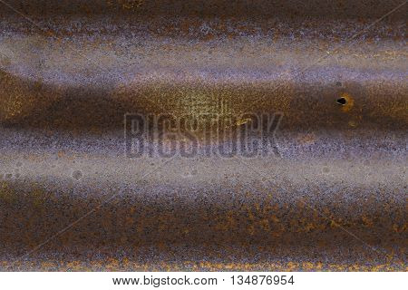 vintage Rusted galvanized iron plate, brown background