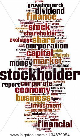Stockholder word cloud concept. Vector illustration on white