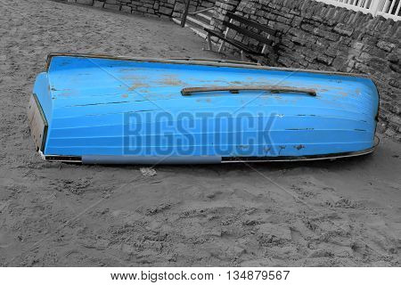 Abstract Colourfull Boat on the beach Brighton West Sussex England