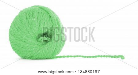 Clew of thread, braided twine, isolated on white background