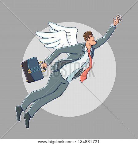 Business angel. Business illustration. cartoon vector illustration