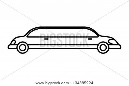 Transportation concept represented by limousine  icon over flat and isolated background