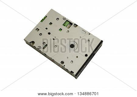 used  floppy disk drive isolated on white.