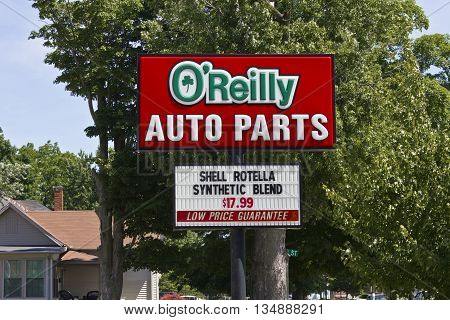 Logansport IN - Circa June 2016: O'Reilly Auto Parts Store. O'Reilly is a Retailer and Distributor of Automotive Parts III