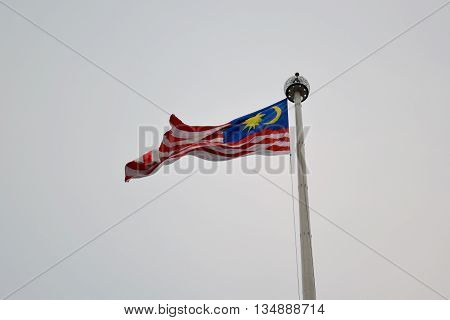 Malaysian flag on Merdeka Square in Kuala Lumpur, Malaysia