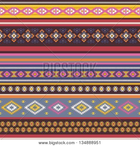Seamless pattern with tribal aztec motives. Aztec pattern.Vector background .