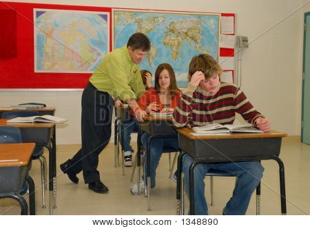 Teacher And Students In Classroom