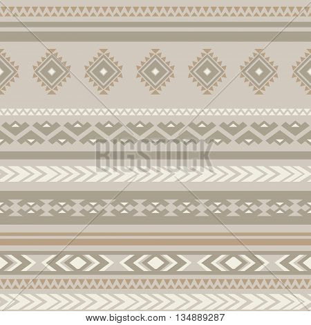 Seamless ethnic striped ornamental pattern . Vector background .