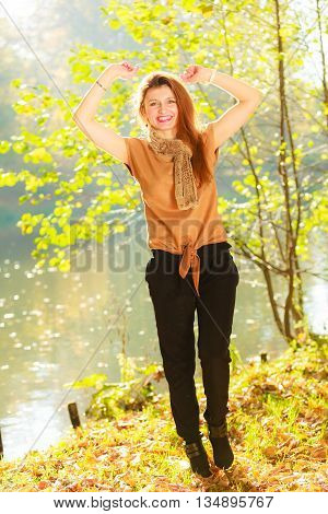 Young Girl In Forest