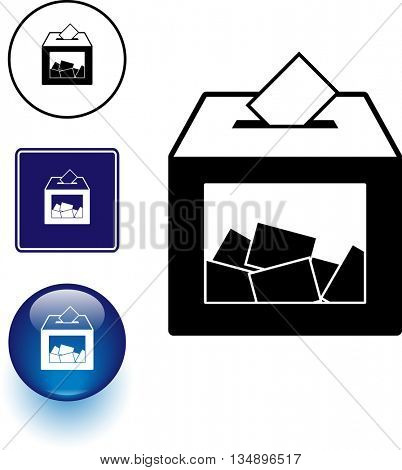 ballot box symbol sign and button