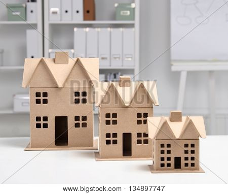 Image Of New Model House On Architecture Blueprint