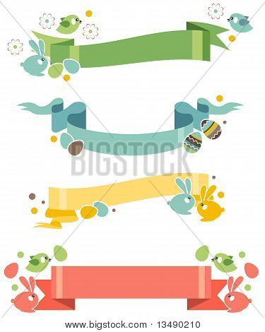 Four easter banners