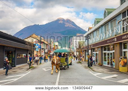 The Main Shopping Street Of Yufuin, Japan