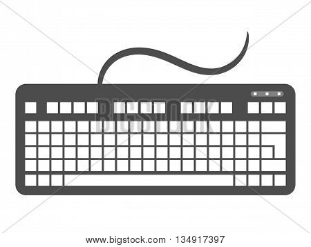 Keyboard icon. Keyboard clip art. Isolated on white background. Design element for your project