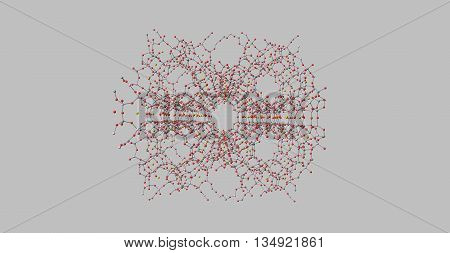 Zeolites are microporous aluminosilicate minerals commonly used as commercial adsorbents and catalysts. 3d illustration