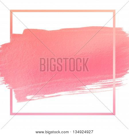 sweet pink acrylic stroke space for your text or quote