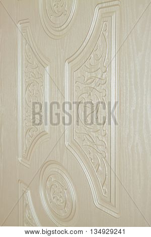 fragment beautiful carved wooden door with an emphasis on design