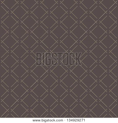 Geometric repeating vector pattern. Seamless abstract modern texture for wallpapers and backgrounds. Brown and golden pattern