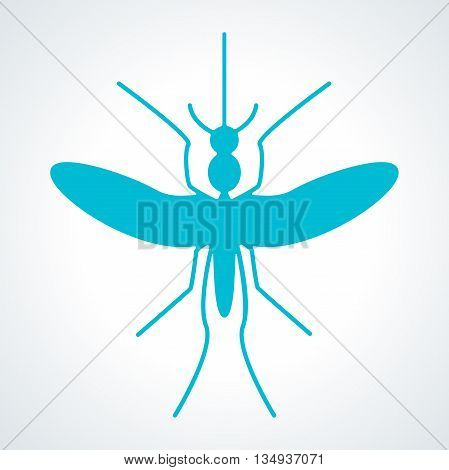 Silhouette of mosquito aedes. Mosquito sign and icon. Zika virus and malaria Outbreak and Travel Alert infographics.