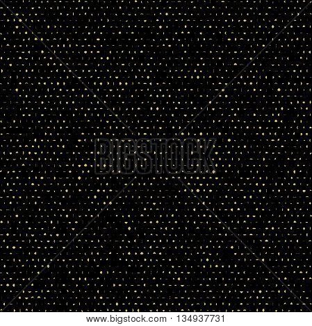 Geometric seamless vector background with ink splashes and stains. Abstract texture. Black and golden pattern