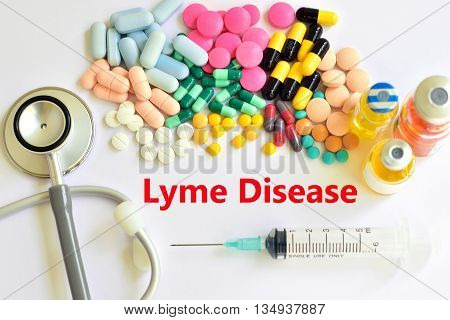 Syringe with drugs for Lyme disease treatment
