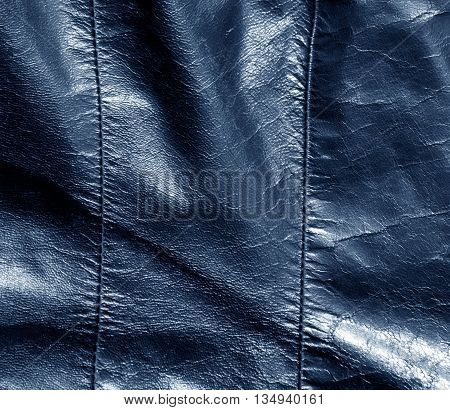 Abstract Color Leather Texture With Stiches.