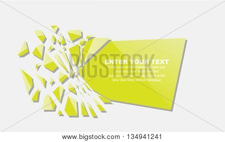 CRUSHED ELEMENTE TEMPLATE MESSAGE STICKER YELLOW for web
