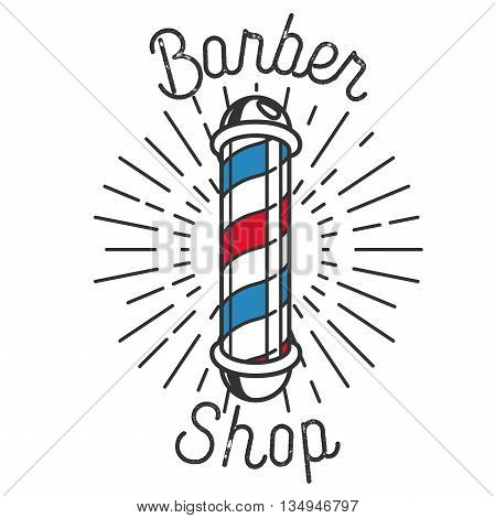 Color vintage barbershop emblem. Brand barbershop, shop barber emblem, logo badge barber shop, label barber shop, business braber shop illustration