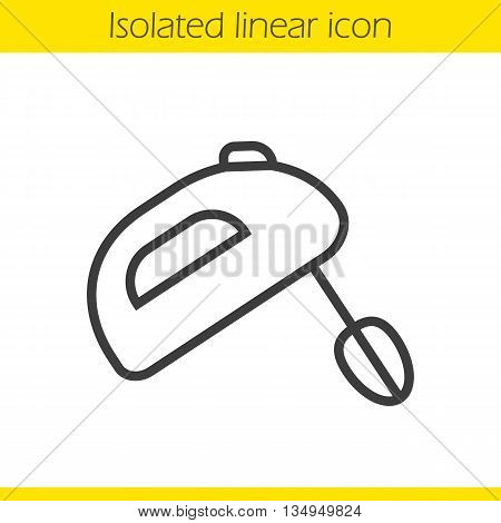 Hand mixer linear icon. Thin line illustration. Contour symbol. Vector isolated outline drawing