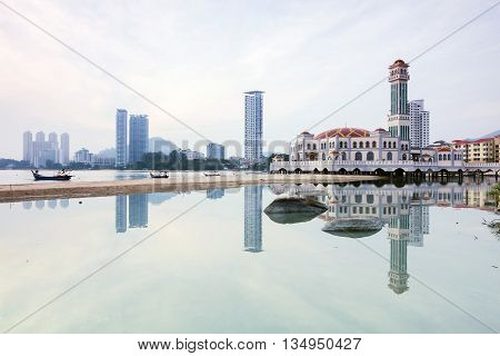 Floating Mosque Penang Reflection, George Town Penang, Malaysia