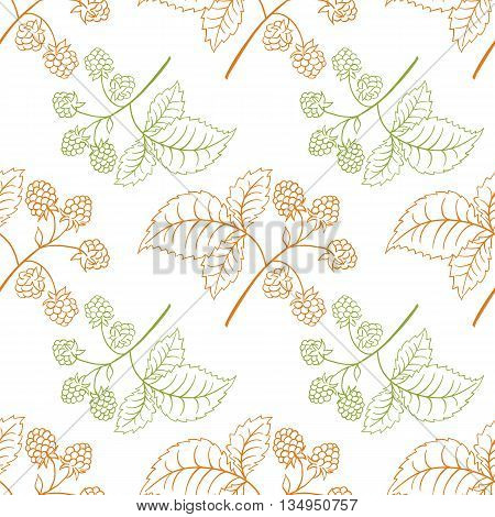 Wild Strawberry Vintage Seamless Pattern.medical Berry Background. Cover,   Textile, Wrapper.