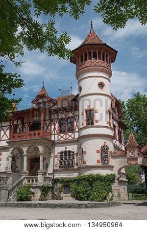 Historic Castle At Spa Garden Herrsching, Bavaria