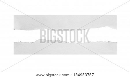 white torn paper isolated over white background with clipping path.