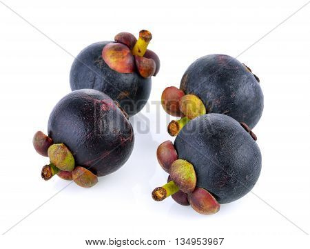 ripe mangosteen isolated on a white background