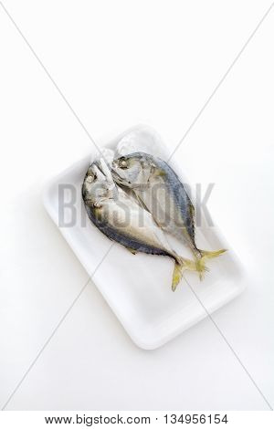 Top View Isolated Couple Of Delicious Steamed Mackerel