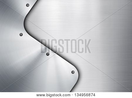 metal template design background