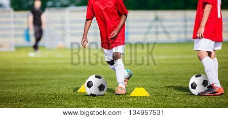 Soccer Kids Training. Soccer Football Training for Children