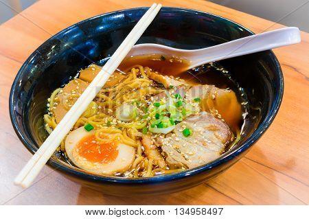 Ramen Shoyu Japanese food style for eat