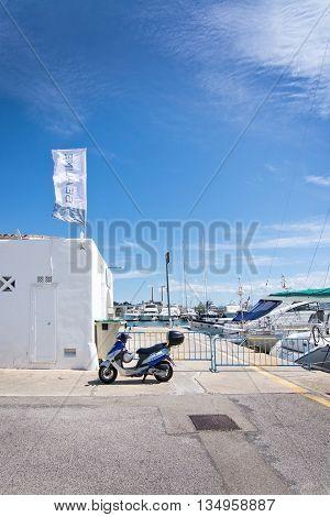 Vespa Parked In Puerto Alcudia