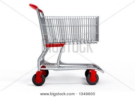 Compras carrinho 3D com vetor caminho de recorte
