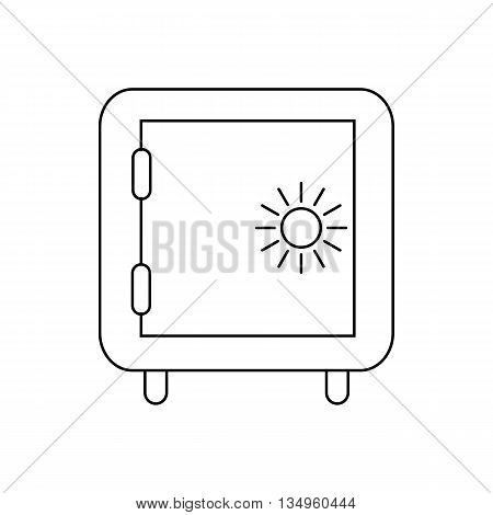 Safe icon in outline style on a white background