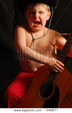 Crazy Boy Playing Guitar